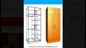 Construccion-de-Closet-Modulares-Planos-Disenos-en-3D-Construccion-de-Closet-Armarios