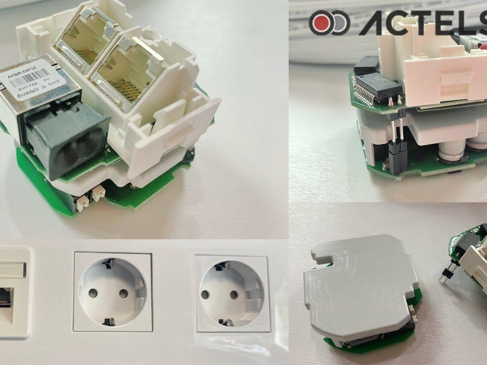 Fibra-optica-plastica-de-empotrar-y-ACT4001-de-Actelser